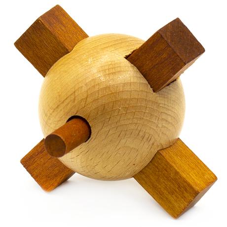 Wooden Cross Mine   Деревянный Пазл