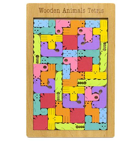 Wooden Animal TetrisWooden Tetris