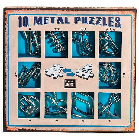 Набор из 10 Металлических Головоломок